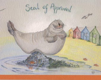 Seal Of Approval Keyring Animal Puns Anniversary Gifts
