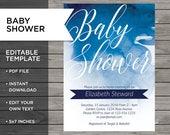 Baby boy invite, Baby Sho...