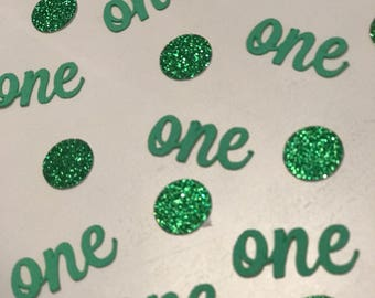 Year Milestone and circles table or card confetti. Great for birthday party for little ones all the way to adults.