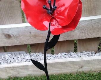 Handmade Metal Poppy