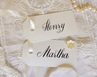 Elegant name tags - wedding - placecards - place cards - name cards - modern calligraphy - favor tags - gift tags DesignedbyDorothea