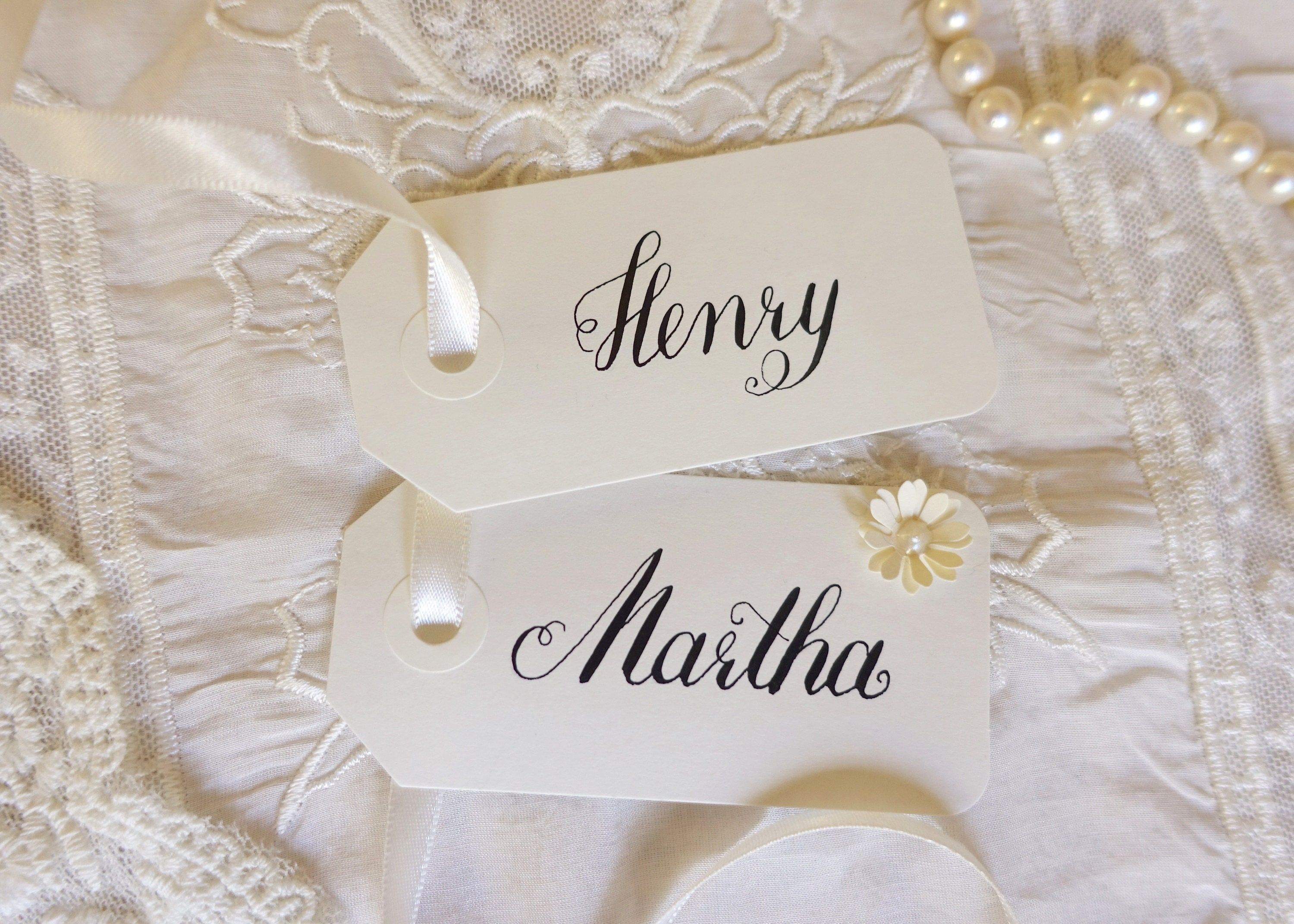 Elegant name tags - wedding - placecards - place cards - name cards ...