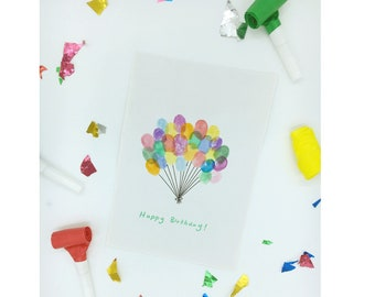 Bunch of Balloons Greeting Card