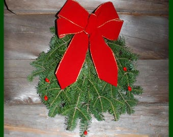 Maine Balsam Fir Door Spray Swag Fresh Wreath 15""