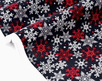 American fabric Theme Christmas-snowflake background silver black x 50cm