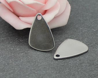 4 charms triangle 14 x 21 mm BR599 stainless steel