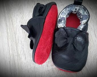 shoes leather mini louboutin