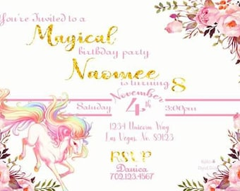 Magical Unicorn Gold text