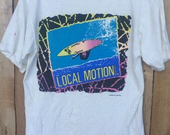 Vintage 1980s Local Motion Skate Surf T-Shirt Medium