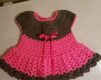 Baby girl dress, can do as part of a set, size 6-24 months