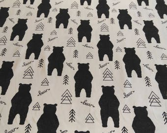 The meter-bear organic cotton Jersey fabric