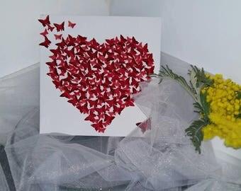 Gone Butterfly heart frame