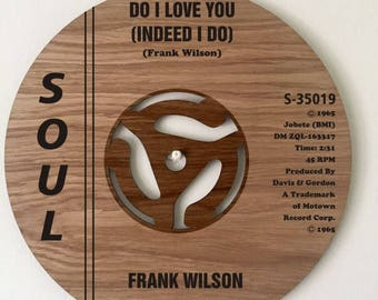 Northern Soul classic record label wall art. Frank Wilson. Do I Love You.