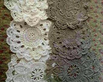 napkins crochet linen or cotton