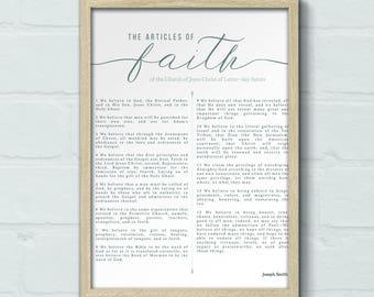 DIGITAL 16x20 LDS Articles of Faith print, LDS quote print, Articles of Faith art, Articles of Faith canvas, 16x20 art print