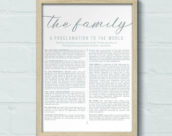 DIGITAL 16x20 LDS Family Proclamation print, LDS quote print,Family Proclamation art, Articles of Faith canvas, 16x20 art print