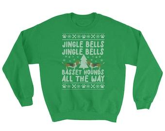 Basset Hound Ugly Christmas Sweatshirt