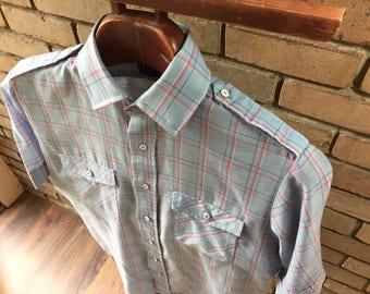 Levi's Plaid Short Sleeve Button Up