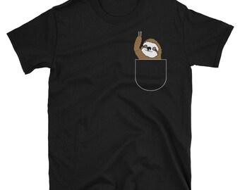 Sloth In Pocket Sloth T-Shirt