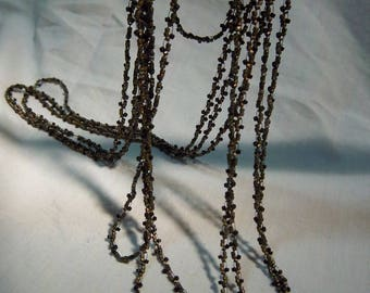 """Woven Seed Bead Necklace - Long - 104"""""""