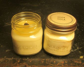 COCA COLA // Soy Candle // Wood Wick // Mason Jar // Drink Scent // Cola Scent // Fun Scent
