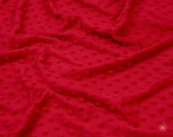Red Minky, Minky Dot Minky by the Yard Minky dot Material Minky Fabric Minky Material Minky Baby Fabric Minky Quilt Minky Cuddle Fabric