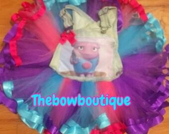 dreamworks home boov overall ribbon trimmed tutu set
