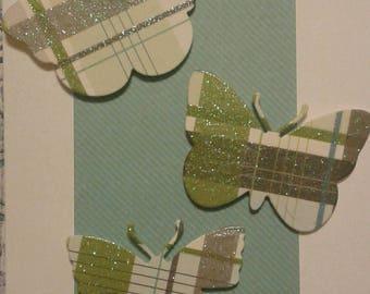 5x7 Butterfly card