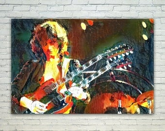 Jimmy Page - Jimmy Page Poster,Jimmy Page West Art,Jimmy Page Print,Jimmy Page Poster,Jimmy Page Merch,Jimmy Page Wall Art,Jimmy Page Fan Ar