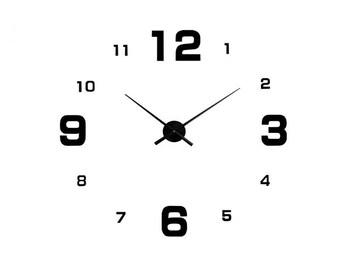 DIY Wall Clock 3D XXL 70cm-130cm Large Wall Clock Kit Stickers Home Art Modern