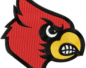Louisville Cardinals Alternate Logo machine embroidery design