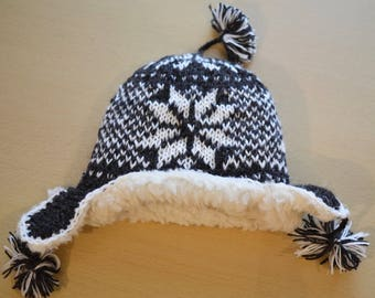 Hand Knit 100% Sheep Wool Hat