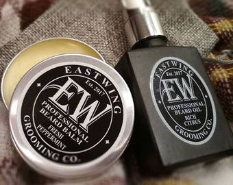 Beard Oil and Balm Gift set. Huge saving also with free UK Shipping & free gift bag