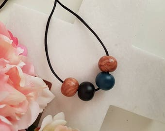Ladies polymer clay bead necklace
