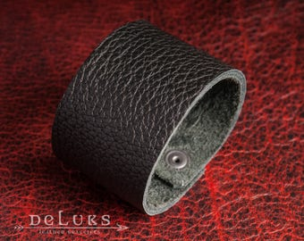 stainless steel rivets , Leather Bracelet , deluxe leather bracelet , 100% buffalo leather , soft leather , Biker , Surfer
