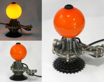 industrial design recycled table lamp