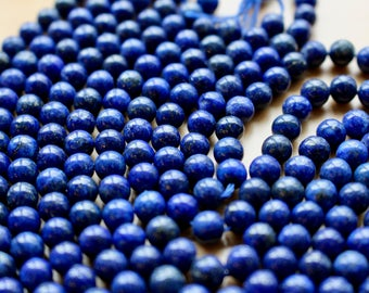 6mm Lapis Lazuli beads, full strand, natural stone beads, round, 60007