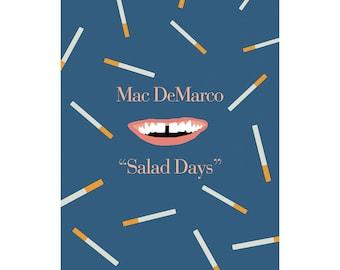 Mac DeMarco Salad Days Minimalist Poster