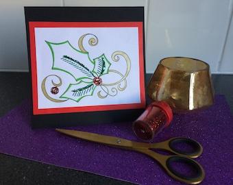 Handmade christmas card coloured