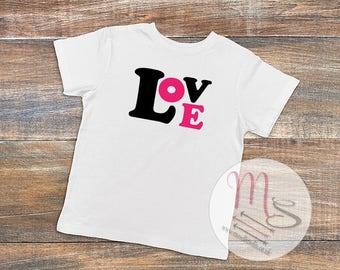 Love T Shirt,  Birthday, Girl, Female, TShirt, Top, Pretty, love