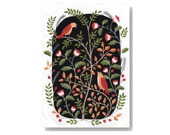 Bohemian Garden A4 Giclee Art Print