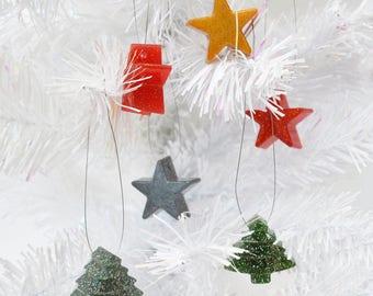 Christmas Tree Baubles – Christmas Tree Decorations – Sparkly Tree Baubles – Festive Tree Decorations – Glitter Tree Decorations