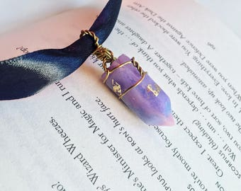 Purple/Blue/Pink Magical Crystal! Choker necklace gift charm