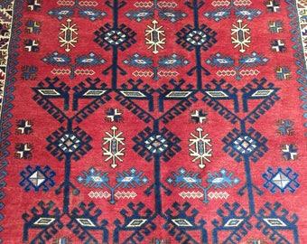 FREE SHIPPING! (280 X 193 Cm) Handmade Caucasian Kapkaz Vintage Carpet.