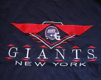 Vintage 90's NFL New York Giants Football Sportswear Fan T Shirt Size XL
