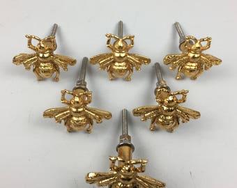 Set 8 x Golden Bee Metal Door Knobs - Knob Home Decor Drawer Pull