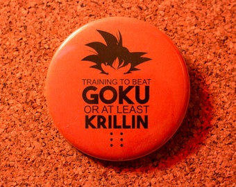 2.25 inch Goku Pin-back Button