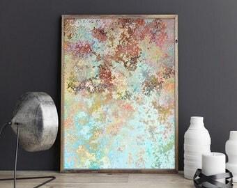 pastel wall art , light blue art print ,  abstract art prints , download fine art , instant download art  , printable abstract
