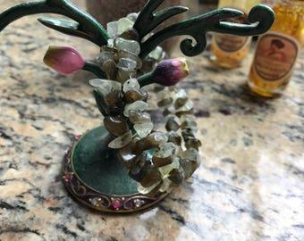 Labradorite and Prehnite bracelet