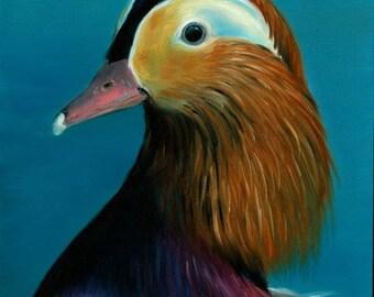Mandarin Duck Original Oil Painting